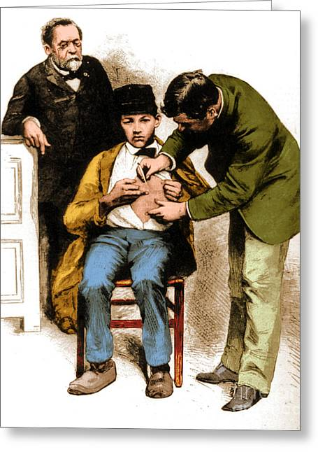 Fermentation Greeting Cards - Louis Pasteur Supervising Rabies Greeting Card by Science Source