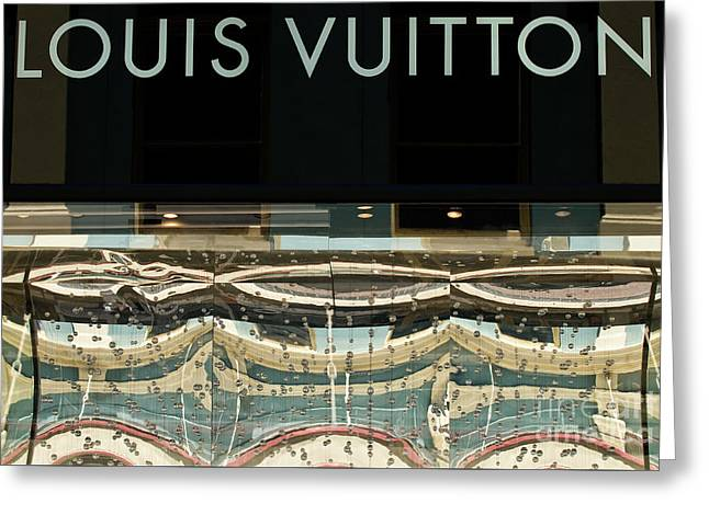 Window Display Greeting Cards - Louis Vuitton Greeting Card by Rick Piper Photography