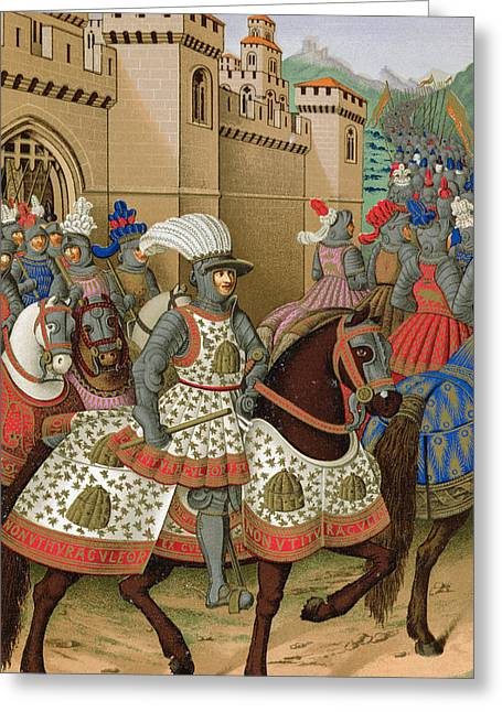 In-city Drawings Greeting Cards - Louis Xii Leaving Alexandria Greeting Card by Jean Marot
