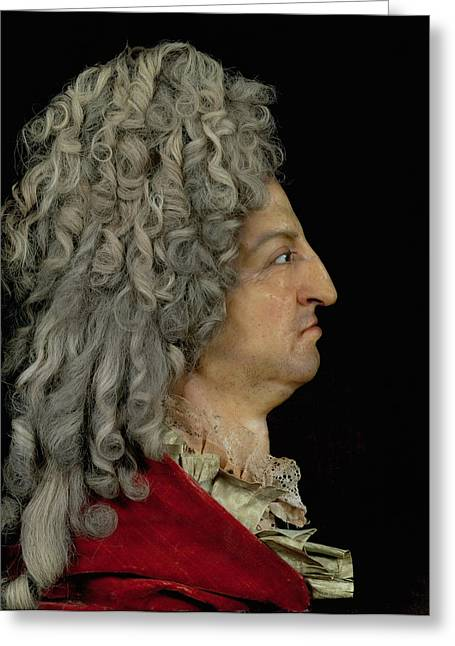 Model Photographs Greeting Cards - Louis Xiv 1638-1715 1706 Mixed Media Greeting Card by or Benoit du Cercle, Antoine Benoist