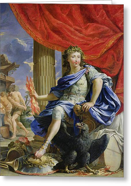 Lightning Bolts Greeting Cards - Louis Xiv 1638-1715 As Jupiter Conquering The Fronde, 1648-67 Oil On Canvas Greeting Card by Charles Poerson