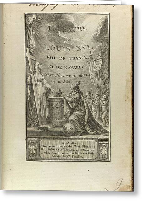 Louis Xvi Greeting Card by British Library