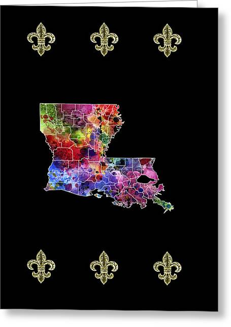Zydeco Greeting Cards - Louisana Fleur De Lis Greeting Card by Daniel Hagerman
