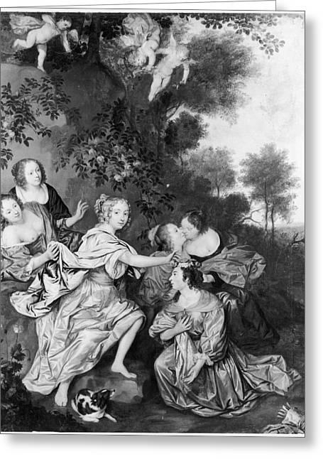 Louise De La Valliere(1644-1710) Greeting Card by Granger