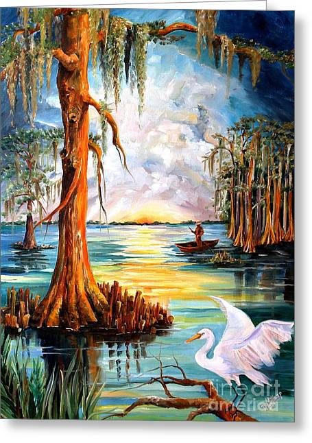 Louisiana Sunrise Greeting Cards - Louisiana Bayou Greeting Card by Diane Millsap