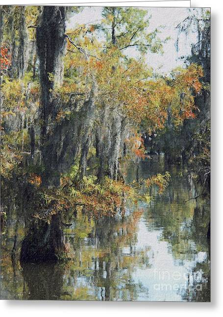 Dantzler Greeting Cards - Louisiana Bayou Foliage in Early October Greeting Card by Andrew Govan Dantzler