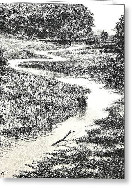 Swamp Drawings Greeting Cards - Louisiana Bayou Greeting Card by Garry McMichael