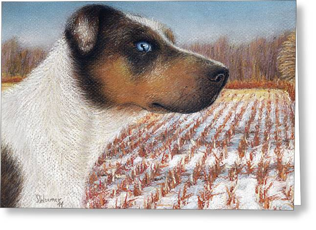 Hunting Pastels Greeting Cards - Louisiana Catahoula Leopard Dog Greeting Card by Stephanie Woerner