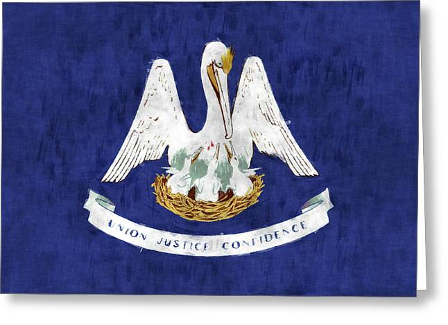 Louisiana Greeting Cards - Louisiana Flag Greeting Card by World Art Prints And Designs
