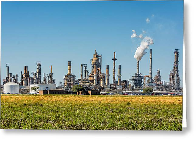 Manufacturing Greeting Cards - Louisiana Industry Greeting Card by Steve Harrington