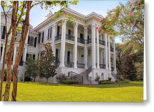 Louisiana Landscape Greeting Cards - Louisiana Plantation Home Greeting Card by Mountain Dreams