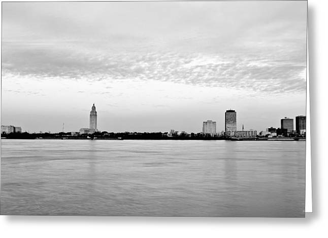 White River Greeting Cards - Louisiana State Capital from Across the River Greeting Card by Scott Pellegrin
