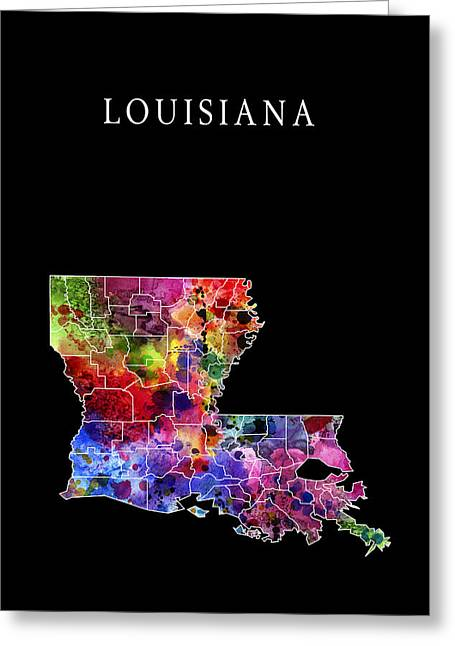Zydeco Greeting Cards - Louisiana State Greeting Card by Daniel Hagerman