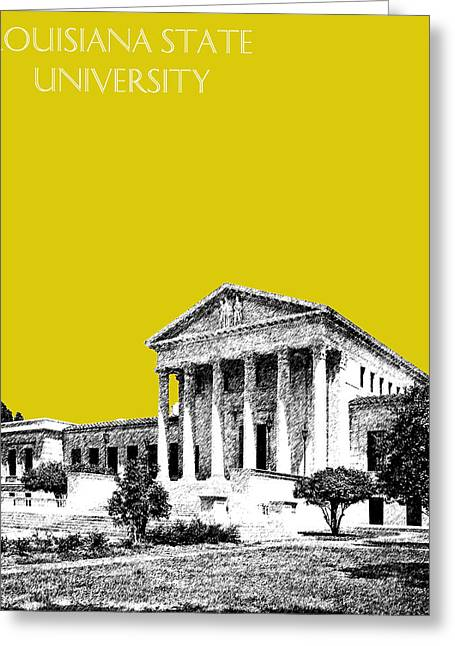 Baton Rouge Greeting Cards - Louisiana State University 2 - Mustard Greeting Card by DB Artist