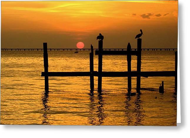 Kathy Bassett Greeting Cards - Louisiana Sunset  Greeting Card by Kathy Bassett