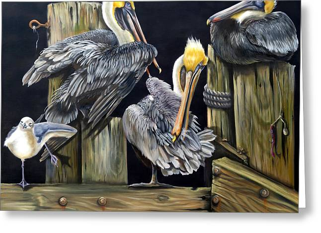 Wadingbird Greeting Cards - Louisiane Berceuse Greeting Card by Phyllis Beiser