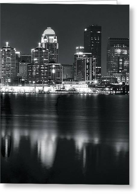 Caves Greeting Cards - Louisville Across the Ohio River Greeting Card by Frozen in Time Fine Art Photography
