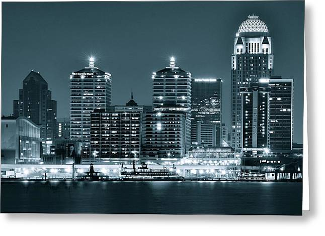 Silver City Greeting Cards - Louisville Monochrome Greeting Card by Frozen in Time Fine Art Photography