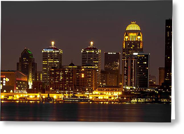 Galt Greeting Cards - Louisville Skyline Greeting Card by Sean Allen