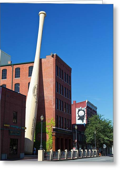 Louisville Slugger Baseball Bat Factory Greeting Card by Photostock-israel