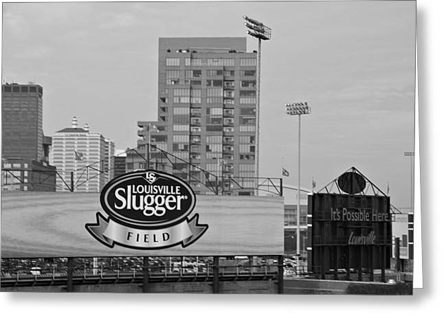 Amateur Greeting Cards - Louisville Slugger Field Greeting Card by Dan Sproul