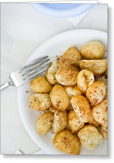 Fries Greeting Cards - Loukoumades Greeting Card by Tom Gowanlock