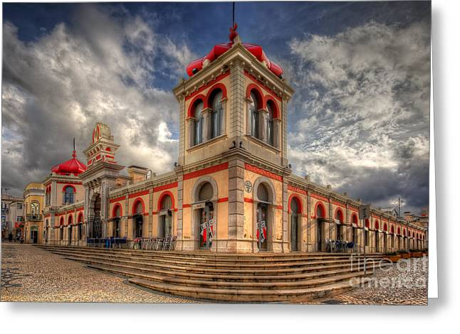 Loule's Market Greeting Card by English Landscapes