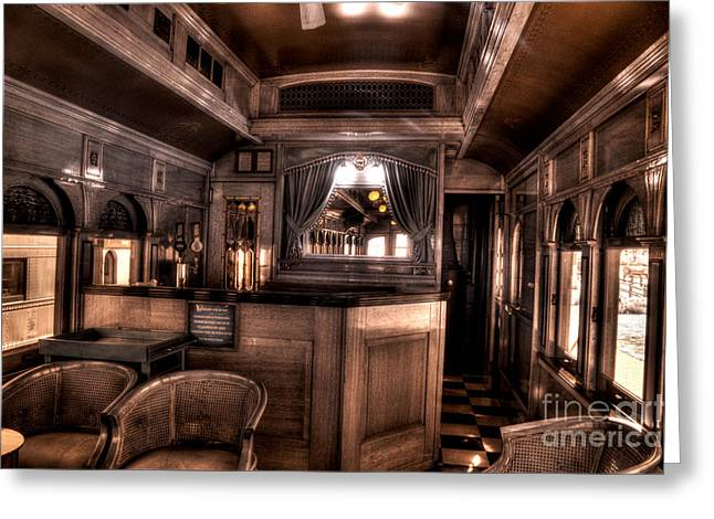 Train Rides Greeting Cards - Lounge Car Greeting Card by Paul W Faust -  Impressions of Light