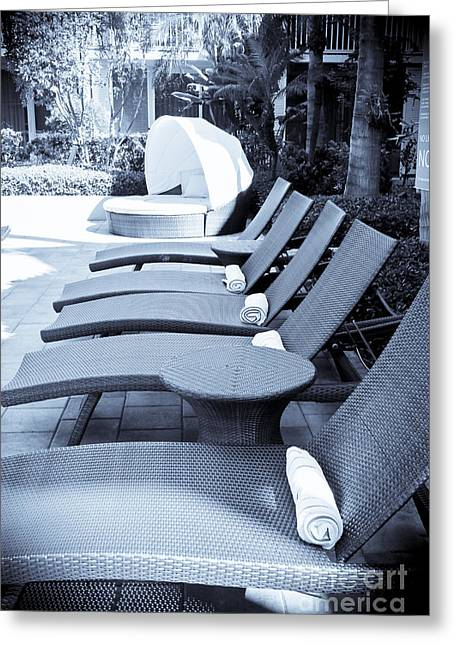 Lounge Chairs Greeting Card by Sophie Vigneault