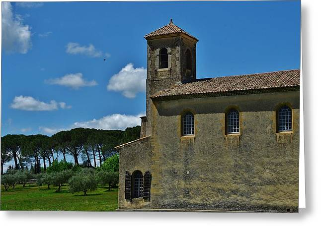 Provence Village Greeting Cards - Lourmarin Castle Greeting Card by Dany  Lison