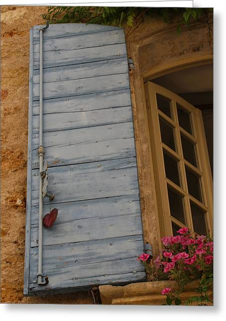 Provence Village Greeting Cards - Lourmarin Window Greeting Card by Jason Liebman