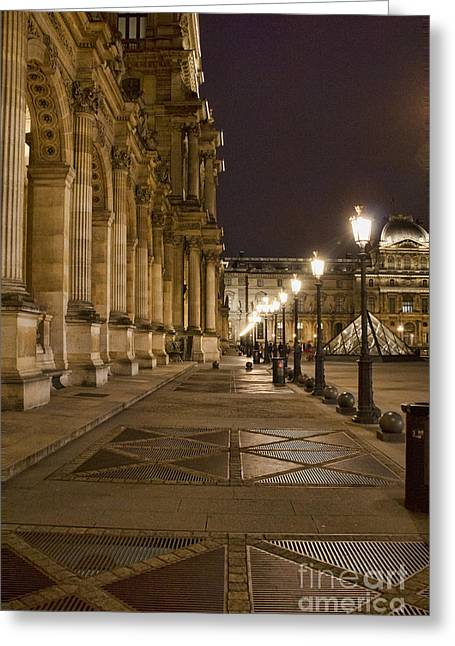 Louvre Courtyard Greeting Card by Crystal Nederman