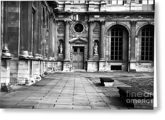 Louvre Greeting Cards - Louvre Courtyard Greeting Card by John Rizzuto