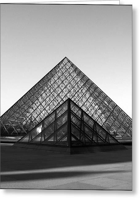 Travel Greeting Cards - Louvre Greeting Card by Dimitar K Atanassov