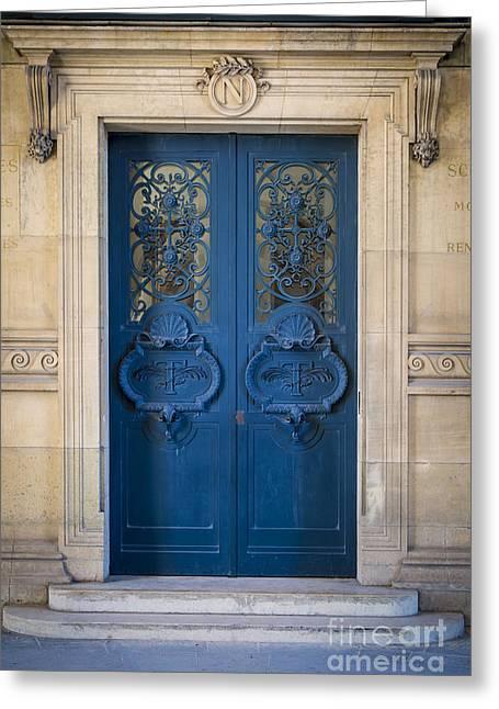 Entryway Greeting Cards - Louvre Doorway - Paris Greeting Card by Brian Jannsen
