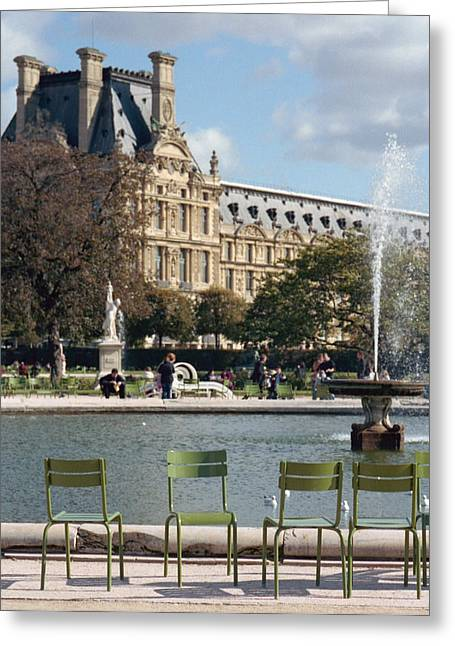 Europe Greeting Cards - Louvre Garden Greeting Card by Marcio Faustino