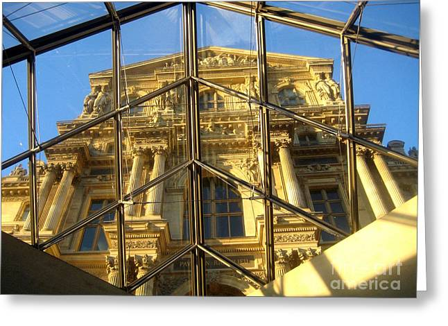 Art By Frederick Luff Greeting Cards - Louvre In Modern Greeting Card by Europe  Travel Gallery
