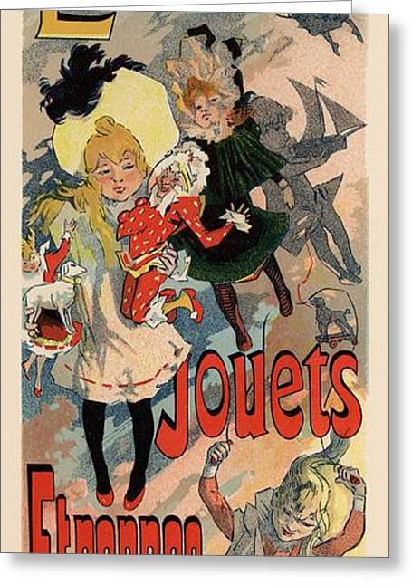 Belle Epoque Greeting Cards - Louvre Jouets Etrennes Greeting Card by Gianfranco Weiss