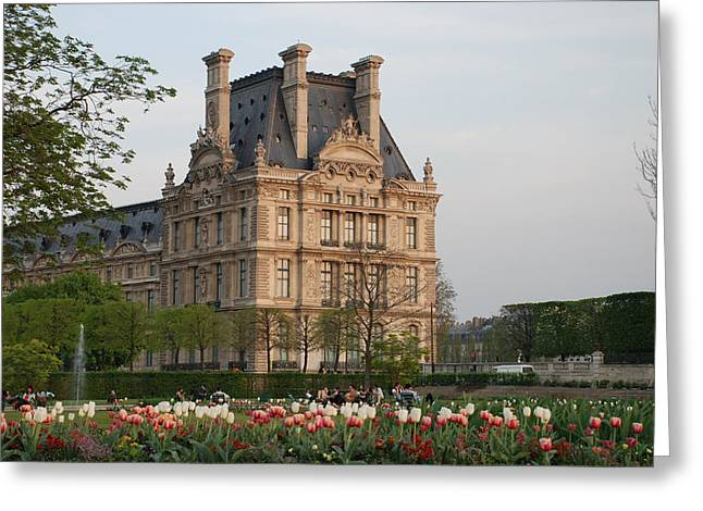 Cityscape Greeting Cards - Louvre Museum Greeting Card by Jennifer Lyon