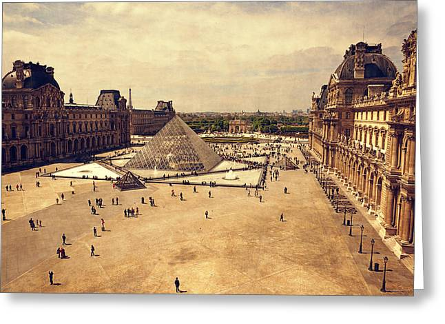 West Paris Greeting Cards - Louvre Museum Greeting Card by Maria Angelica Maira