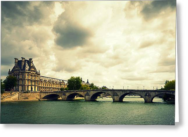 Art Product Greeting Cards - Louvre Museum Paris Greeting Card by Chevy Fleet