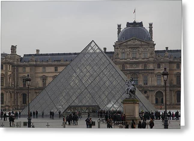 Pyramids Greeting Cards - Louvre - Paris France - 011314 Greeting Card by DC Photographer