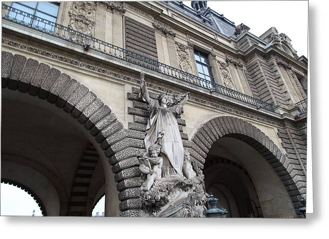 European Photographs Greeting Cards - Louvre - Paris France - 011331 Greeting Card by DC Photographer