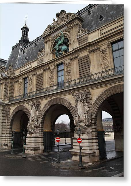 Louvre - Paris France - 011334 Greeting Card by DC Photographer