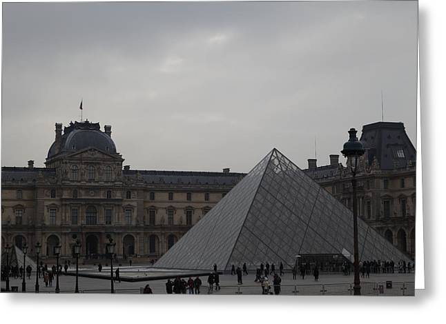 Facade Photographs Greeting Cards - Louvre - Paris France - 01135 Greeting Card by DC Photographer