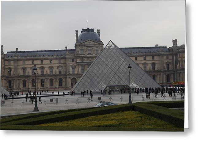 Pei Greeting Cards - Louvre - Paris France - 01138 Greeting Card by DC Photographer