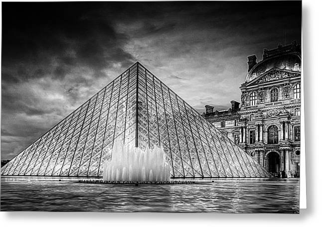 Louvre Greeting Cards - Louvre Pyramid Greeting Card by Ryan Wyckoff