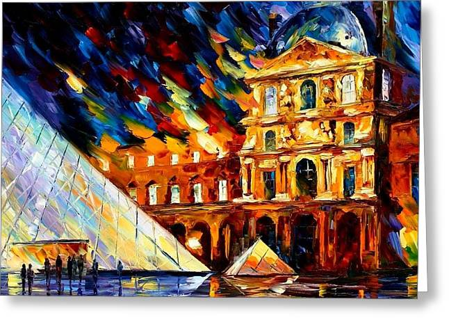 Spectacular Reliefs Greeting Cards - Louvre  Greeting Card by Raphael  Sanzio