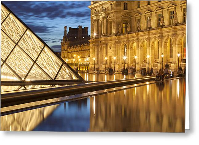 Louvre Reflections Greeting Card by Brian Jannsen