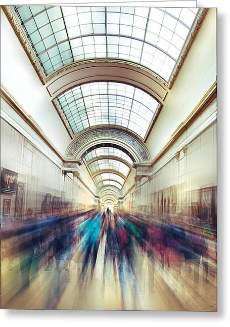 Champs Greeting Cards - Louvre Rush Greeting Card by Ivan Vukelic